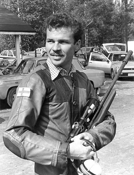 Ampuja Jorma Lievonen vuonna 1981.