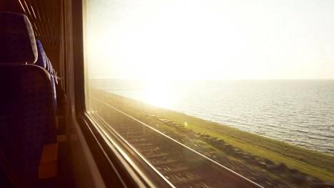 Tulevaisuudessa saatamme matkustaa useammin junalla lentämisen sijaan.