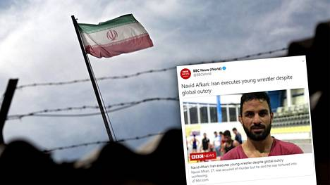 Iranilainen painijamestari Navid Afkari teloitettiin lauantaina.