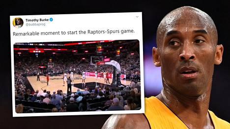 Kobe Bryantia kunnioitettiin NBA-ottelussa, joka alkoi pian sen jälkeen, kun tiedot helikopterionnettomuudesta tulivat julkisuuteen.