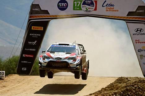 Toyota-kuljettaja Kalle Rovanperä kaasutteli viidenneksi Meksikon tynkärallissa.