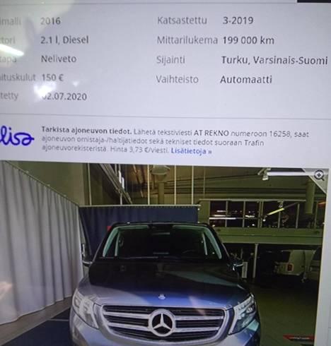 Tihonovin hankkimaan autoa mainostettiin myynti-ilmoituksessa nelivetoisena.