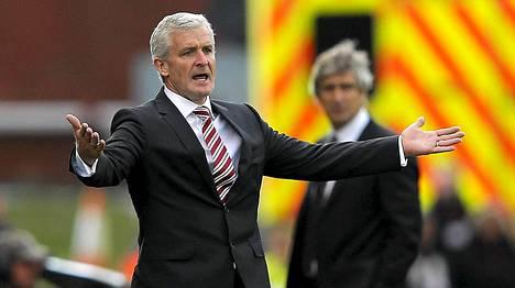 Stoken pelaajat kehuvat uutta manageria Mark Hughesia.