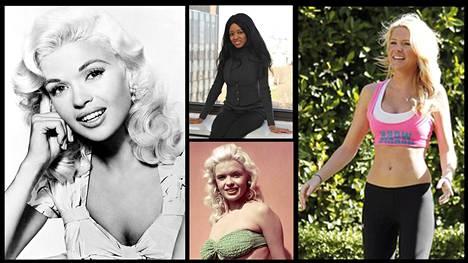 Monen Playboy-kaunottaren elämä on päättynyt surullisella tavalla. Kuvassa Jayne Mansfield (vasemmalla ja keskellä alhaalla), Stephanie Adamson (keskellä ylhäällä) ja Ashley Mattingly.