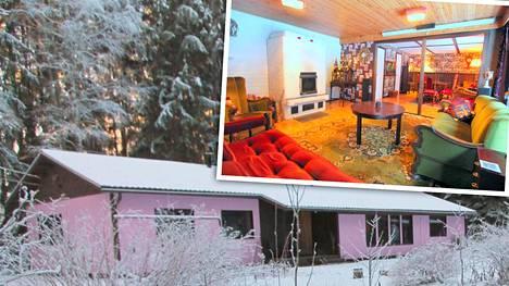 Vaaleanpunaisen kodin seinien taakse kätkeytyy värikäs yllätys – Ruskolla myydään rohkeasti erilaista taloa