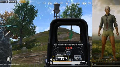 Toimittajan ensimmäinen peli PUBGissa päättyi kolmanteen sijaan ja viiteen tappoon. Pelihahmolle löytyi muutama vaate ensimmäisen pelin päätteeksi.