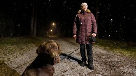 Koiraa ulkoiluttanut Hanna Uusikauppila kohtasi suden pururadalla Kankaanpäässä.