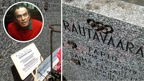 Laulajalegenda Tapio Rautavaaran haudalle ilmestyi kyltti, jossa pyydetään omaisia kunnostamaan hautakivi.