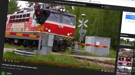 Aasiassa tunnetaan outoa vetoa tavarajunavideoon. Kuvakaappaus Youtubesta.
