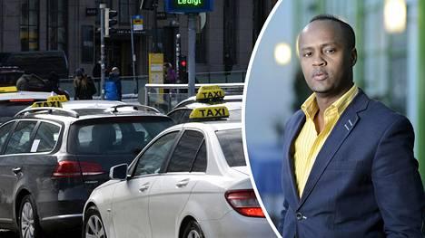 """Abdirahim """"Husu"""" Hussein (sd) kertoi, että taksien järjestelmät tallentaisivat taksissa käydyt keskustelut."""