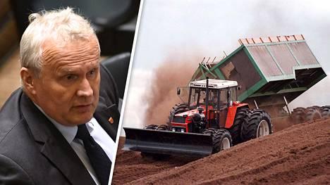 Suomalainen turvekalusto myydään kohta pilkkahintaan Baltian maihin, mistä tuodaan jatkossa turvetta Suomeen, uskoo ympäristöväliokunnan puheenjohtaja Hannu Hoskonen (kesk).