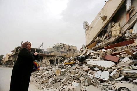 Palmyran kaupunki on raunioina Isisin vallanpidon ja pommitusten jäljiltä.