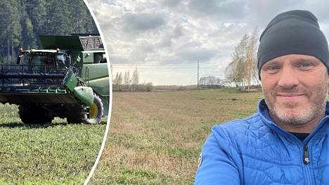 Porvoolainen Niklas Magnusson kertoo, että hänen noin 1,7 hehtaarin peltonsa sijaitsevat lähellä Eestinmäen ST1:n huoltoasemaa.