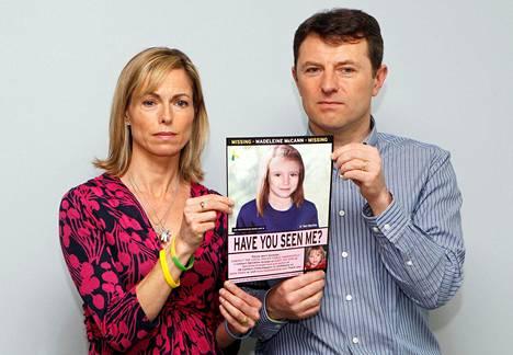 Kate ja Gerry McCann ovat etsineet tytärtään sinnikkäästi 13 vuoden ajan.