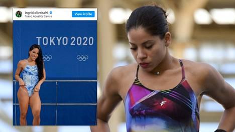 Rion kisojen kohu vaivaa yhä uimahyppääjä Ingrid Oliveiraa.