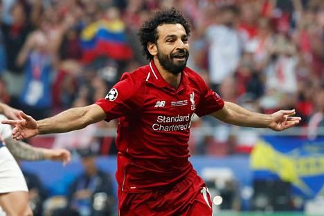 Mohamed Salah pääsi tuulettamaan heti pelin alussa.