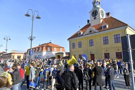 Vanhan Rauman keskustassa juhlittiin.