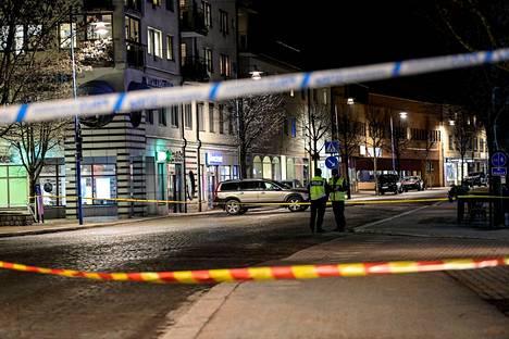 Kahdeksan ihmistä loukkaantui Vetlandan keskustassa.