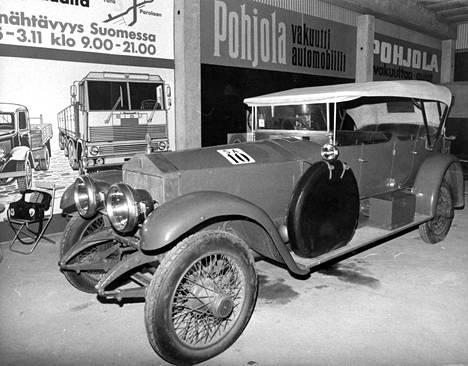 Mannerheimin Rolls Royce Silver Ghost vuosimallia 1915.