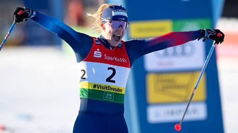 Nadine Fähndrich oli kovassa iskussa viikonloppuna.