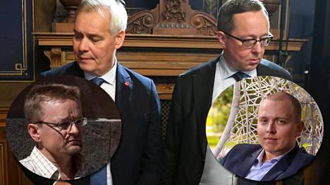 Asiantuntijat Timo Rothovius ja Jukka Oksaharju vierastavat pääministeri Antti Rinteen ja valtiovarainministeri Mika Lintilän päätöstä valtion omaisuuden myynnistä.