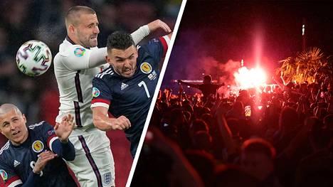 Skotlannin fanit ottivat viimeisen päälle ilon irti joukkueen taistelusta Englannin vieraana.