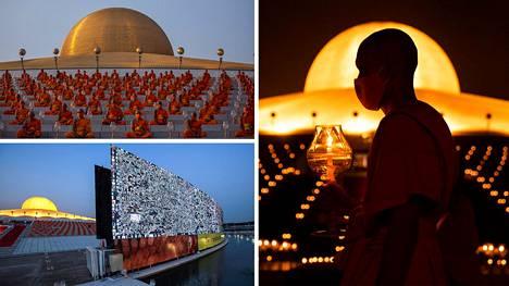 Korona pisti buddhalaisen juhlapäivän Thaimaassa kokonaan uusiksi – jopa 200000 osallistui lyhtyseremoniaan Zoomin välityksellä