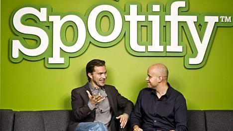 Spotifyn perustajat Daniel Ek ja Martin Lorentzon.