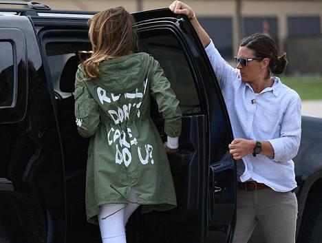 Melanian takkivalinta herätti valtavan määrän spekulaatiota kesällä 2018.
