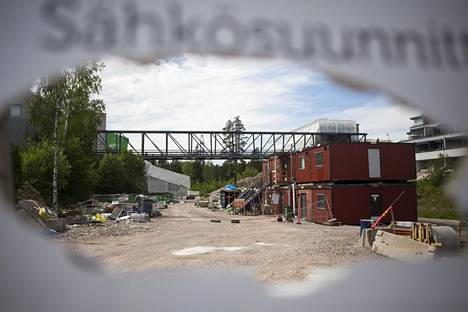 Viikinmäen askelmat ja portaat asunto oy:n rakennustyömaa Ristiretkeläistenkadulla Helsingissä.