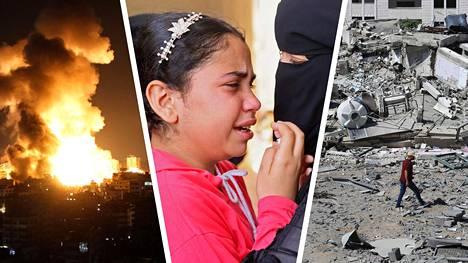 Gazassa yli 200 ihmistä on kuollut Israelin tekemissä ilmaiskuissa ja satoja rakennuksia on tuhoutunut tai vaurioitunut. Tuhannet ovat joutuneet jättämään kotinsa.