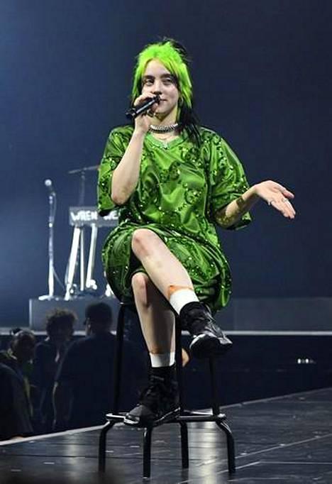Lukuisten hittien lisäksi Billie Eilish on tunnettu omaleimaisesta tyylistään.