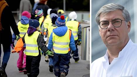 HUSin infektioylilääkäri Asko Järvinen pitää nuorimpien lasten joukkokaranteenien vähentämistä hyvänä asiana.