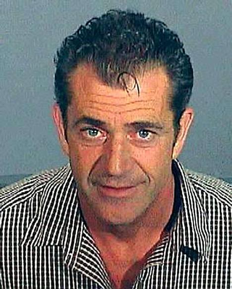 Rattijuopumuksesta pidätetty Mel Gibson vuonna 2006.