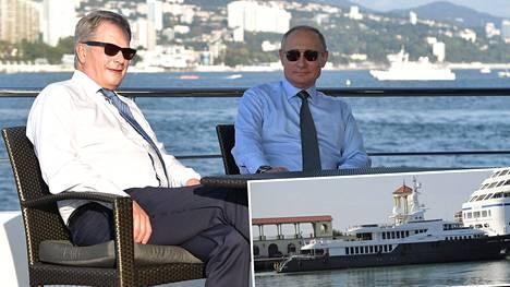 Vladimir Putin vei Sauli Niinistön puolentoista tunnin retkelle Sotshin edustalle. Presidenttien kerrotaan keskustelleen kahdestaan englanniksi ilman tulkkia.