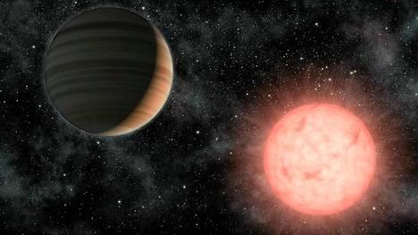 Tällainen on taiteilijan näkemys Nasan löytämästä planeetasta nimeltä VB 10b.