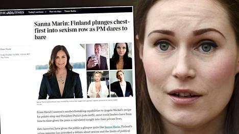 Sana Sanna Marinin poseerauksesta Trendi-lehdessä on kiirinyt Brittein saarille saakka.