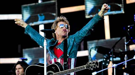 Bon Jovi esiintyi Tampereella sunnuntaina.