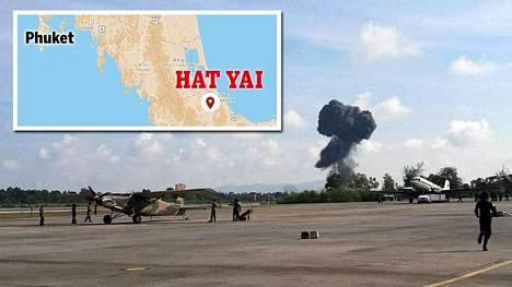 Onnettomuus sattui Etelä-Thaimaassa Hat Yain kaupungissa.