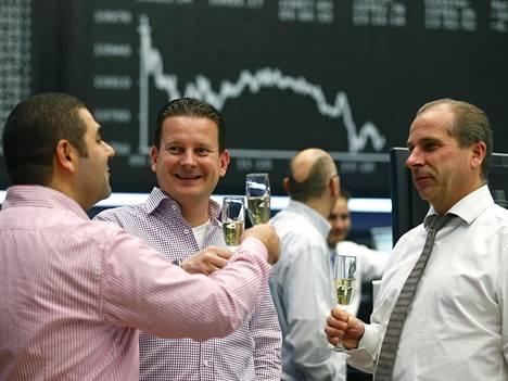 Treidaajia Frankfurtin pörssissä joulukuussa