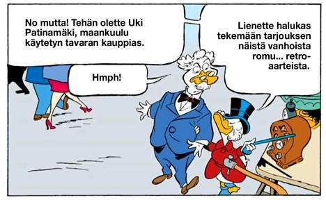 Tältä näyttää Aki Palsanmäki ankkalinnalaisena.