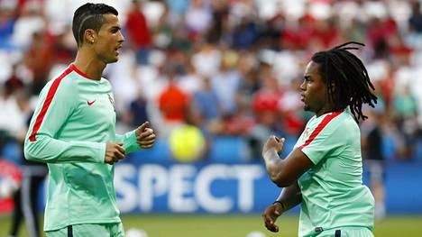 Cristiano Ronaldo (vas.) ja Renato Sanches
