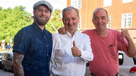 Joel (vas.), Hjallis ja Roy Harkimo ovat kaikki tuoreita valtuutettuja.