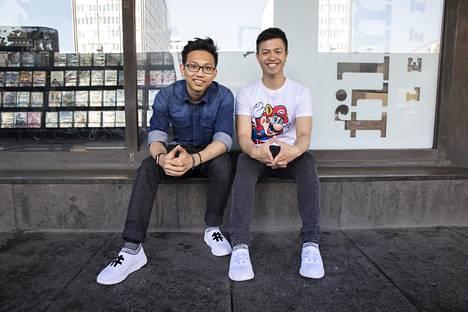 Vasemmalla toinen perustaja Son Chu ja oikealla toimitusjohtaja Jesse Tran.