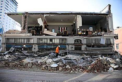 Järistys romahdutti rakennuksia Christchurchissa.