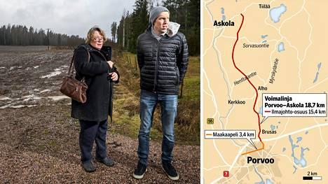 Sanna Anderssonin ja Esko Mikanderin mukaan osaa alueen asukkaista on ärsyttänyt, että voimalinjan kulkureitti ja rakennusaikataulu oli jo päätetty, mutta lähistön asukkailla tai maanomistajilla ei ollut suunnitelmista tietoa.