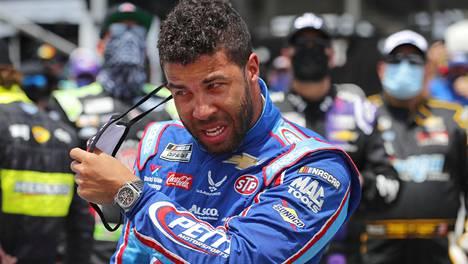 Bubba Wallace kuvattuna Nascar-kilpailussa 22. kesäkuuta.