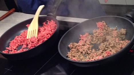 Puolet Suomessa myydystä lihasta on jauhelihaa. Kasvisperäisiin tuotteisiin halutaan samankaltaisia ominaisuuksia.