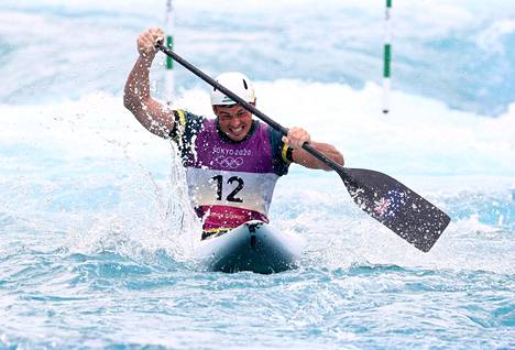 Daniel Watkins vauhdissa olympiafinaalissa.