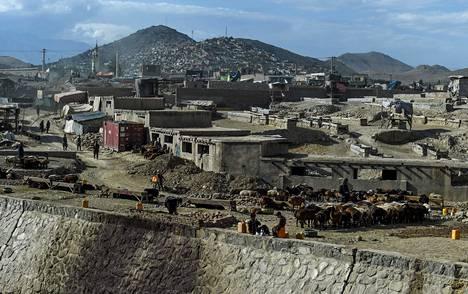 Euromääräisesti Suomi on suunnannut tukea eniten Afganistaniin. Kuva Kabulista.